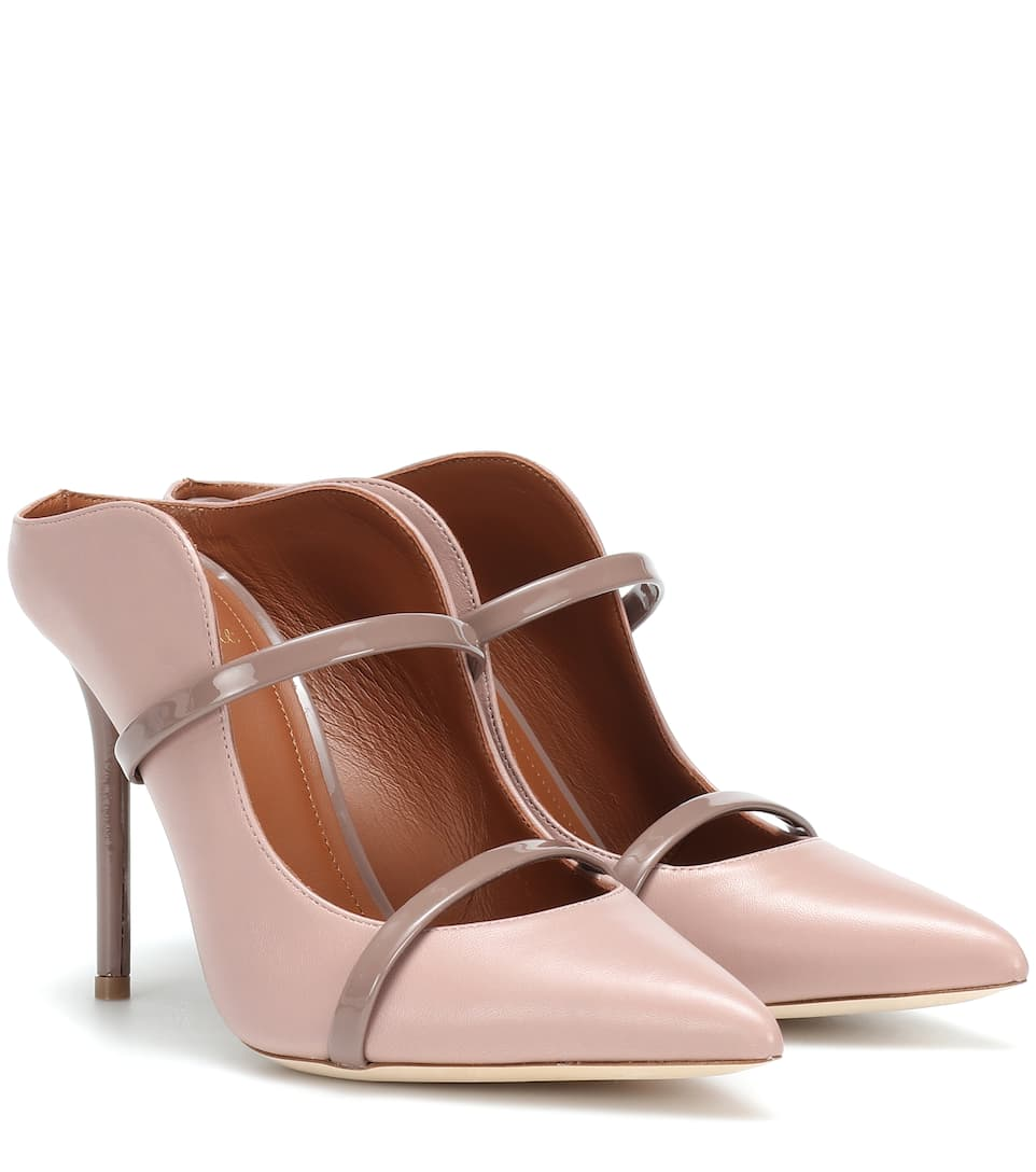 Maureen 100 Leather Mules by Malone Souliers By Roy Luwolt
