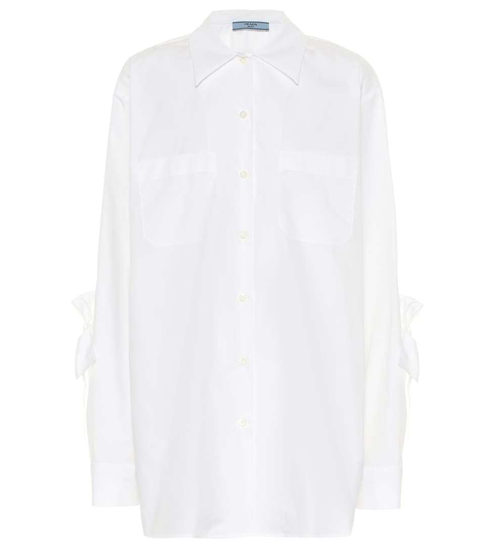 Cotton Poplin Shirt by Prada