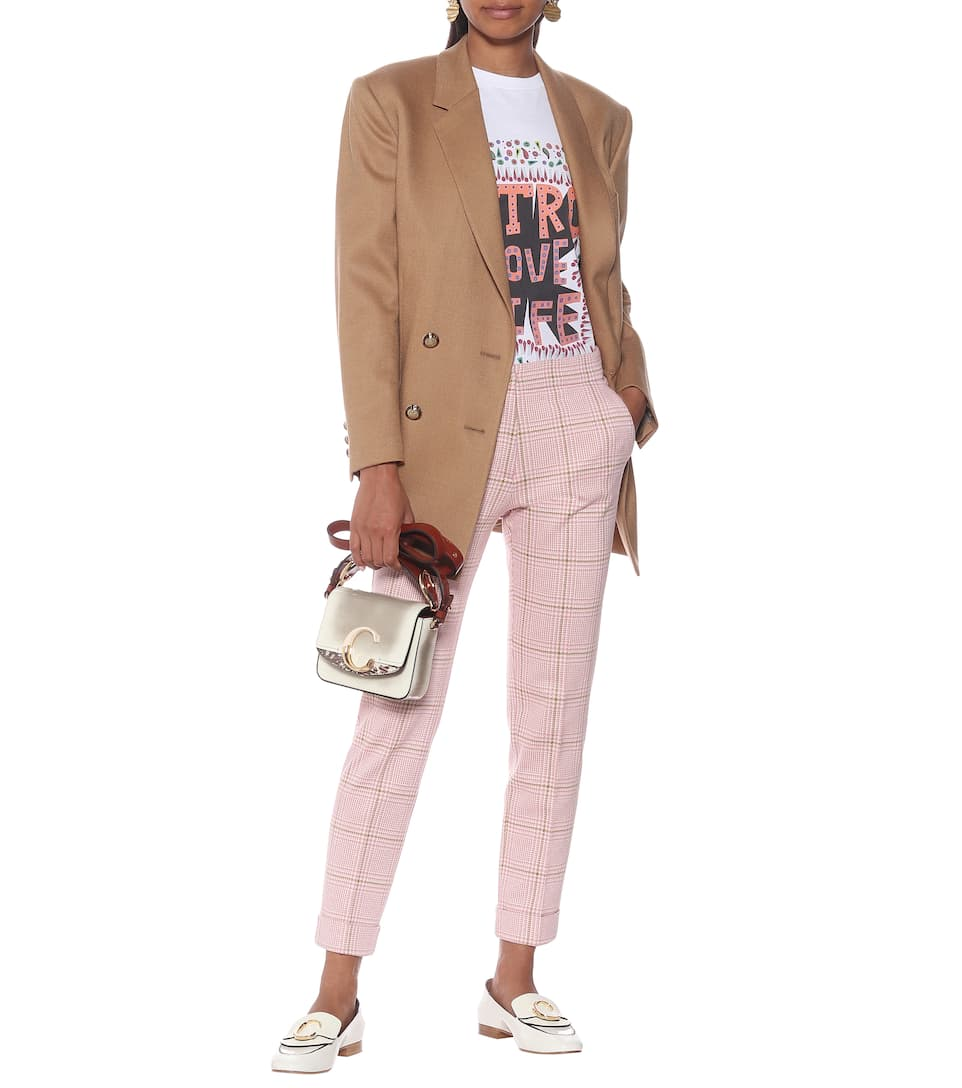 Etro - Check cotton and wool slim pants