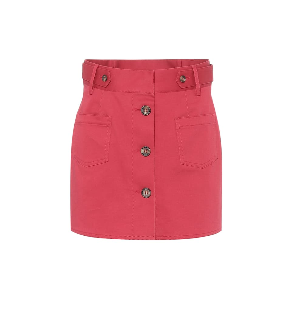 Red Cotton Skort