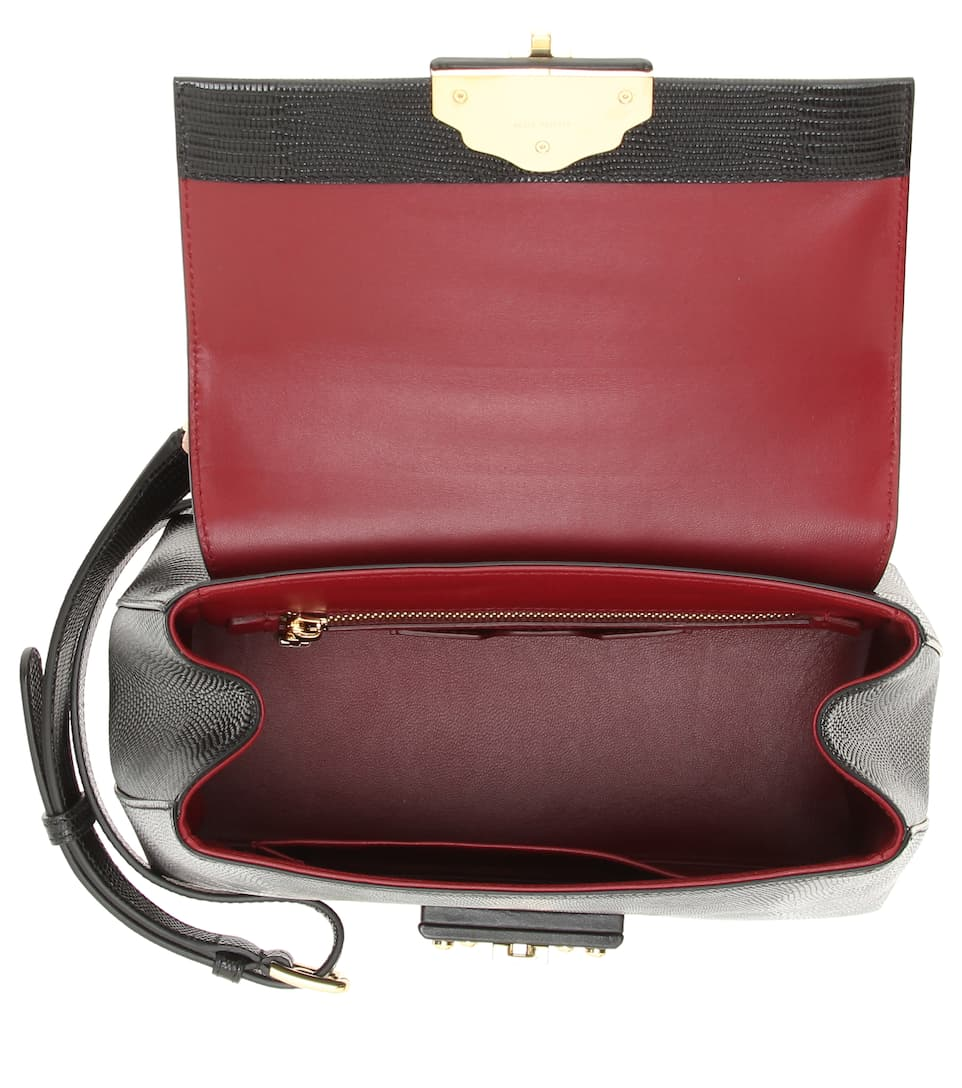 Bolso bandolera Dolce de Gabbana pequeño amp; Nero cuero amp; Lucia 4IIZqf