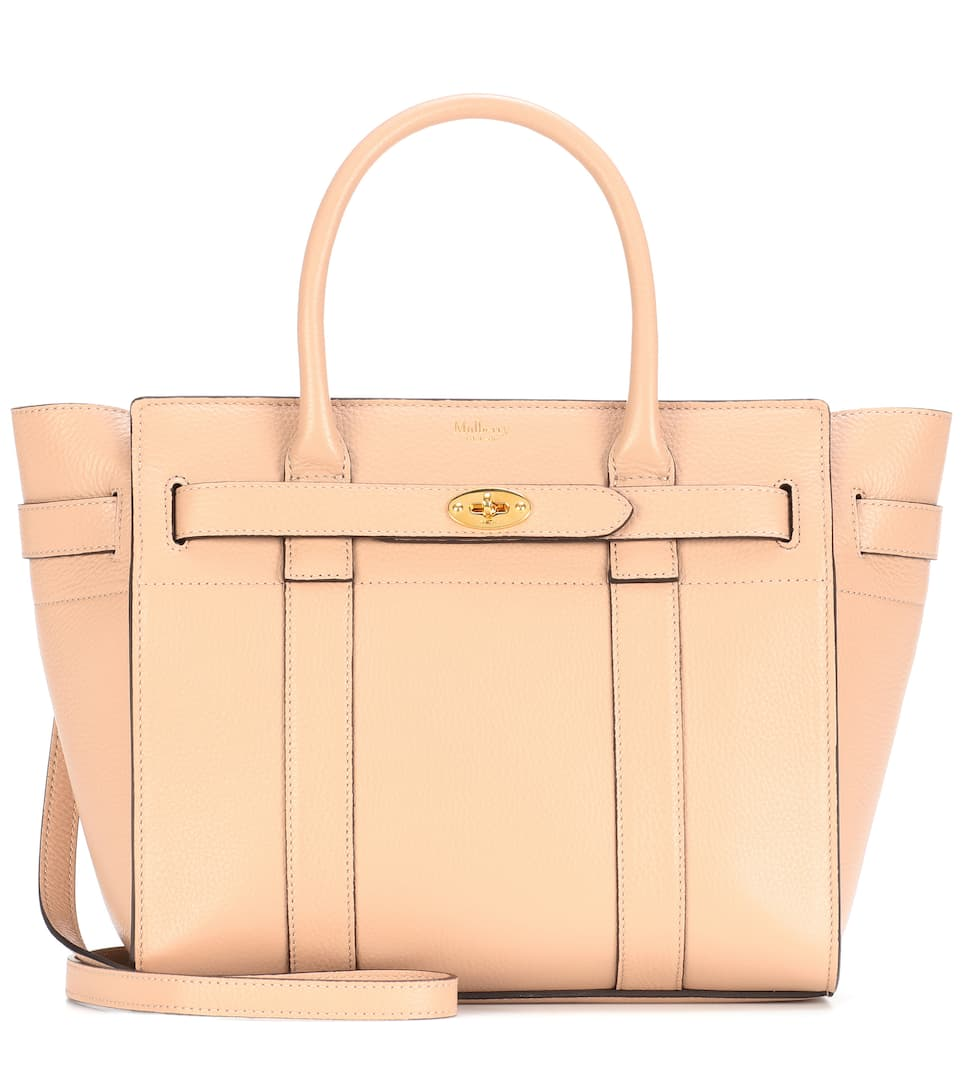 2f241ad7b7a Small Bayswater Leather Tote - Mulberry