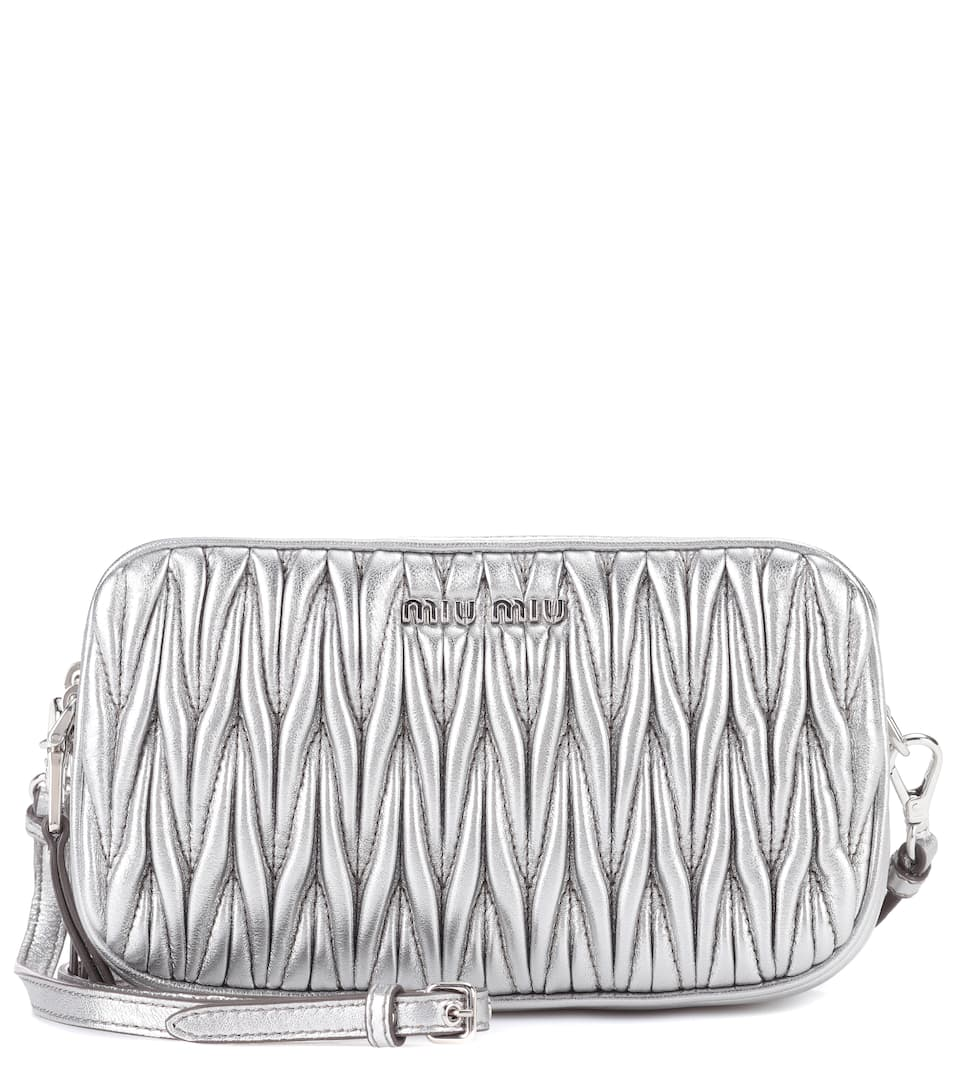 Sac Cross-Body En Cuir Matelassé - Miu Miu
