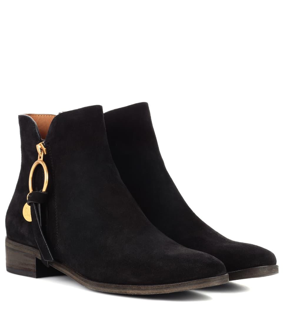 Auslassstellen Verkauf Online Wirklich Online-Verkauf See By Chloé Ankle Boots aus Veloursleder  Um Online Kaufen eyjMcTx