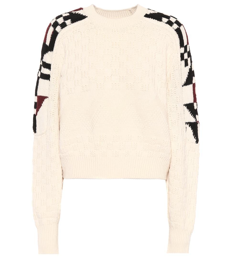 Isabel Marant Intarsien-Pullover Laytonn mit Baumwollanteil