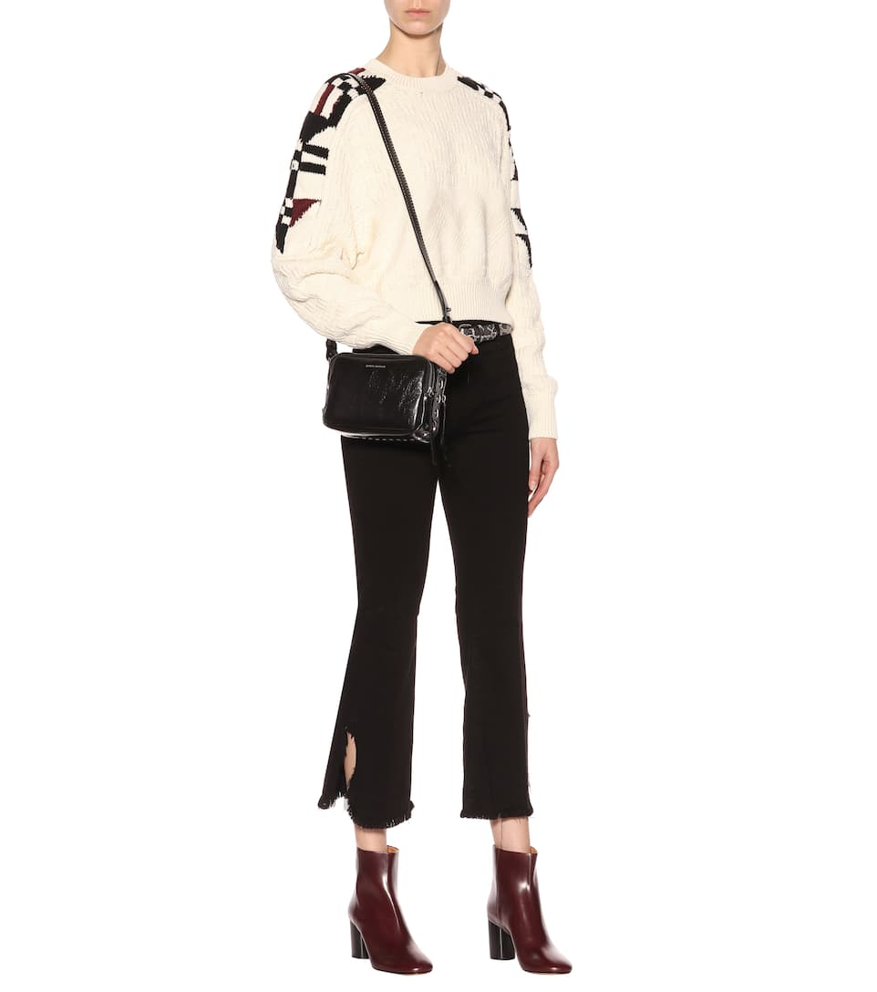 Isabel Marant Intarsien-Pullover Laytonn mit Baumwollanteil Auslass Original Freies Verschiffen Visum Zahlung Shop-Angebot Zum Verkauf fDF3I78w