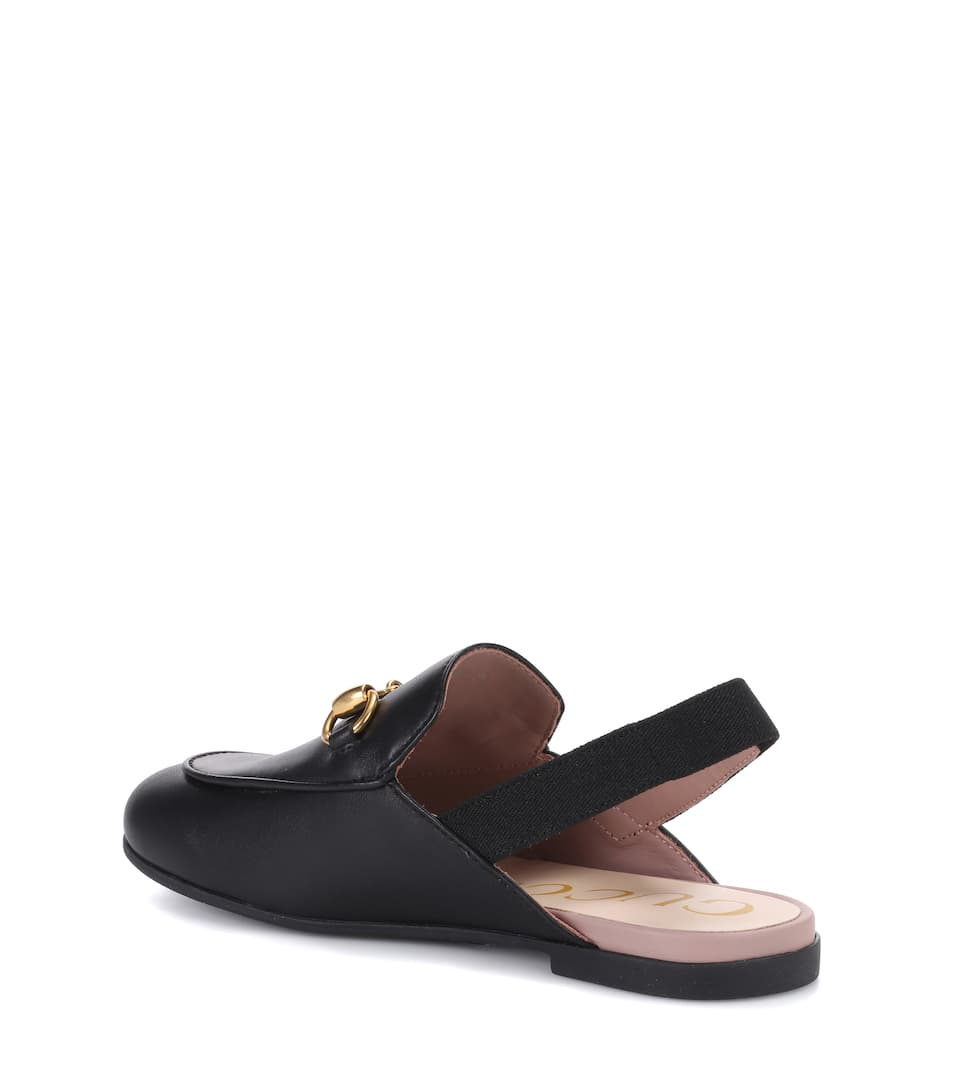 2396a9878 Gucci Kids - Princetown leather slippers