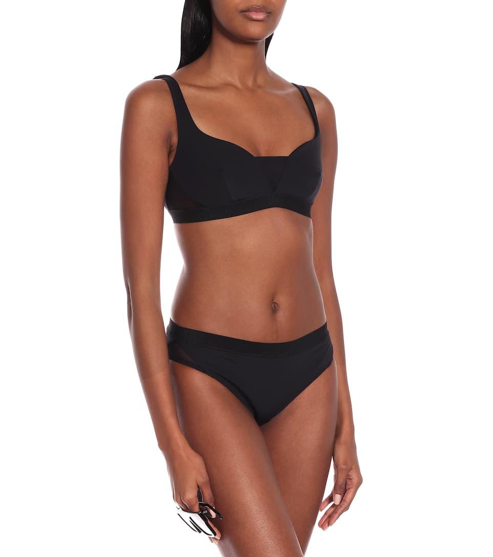 Stella McCartney - Mesh-trimmed bikini top
