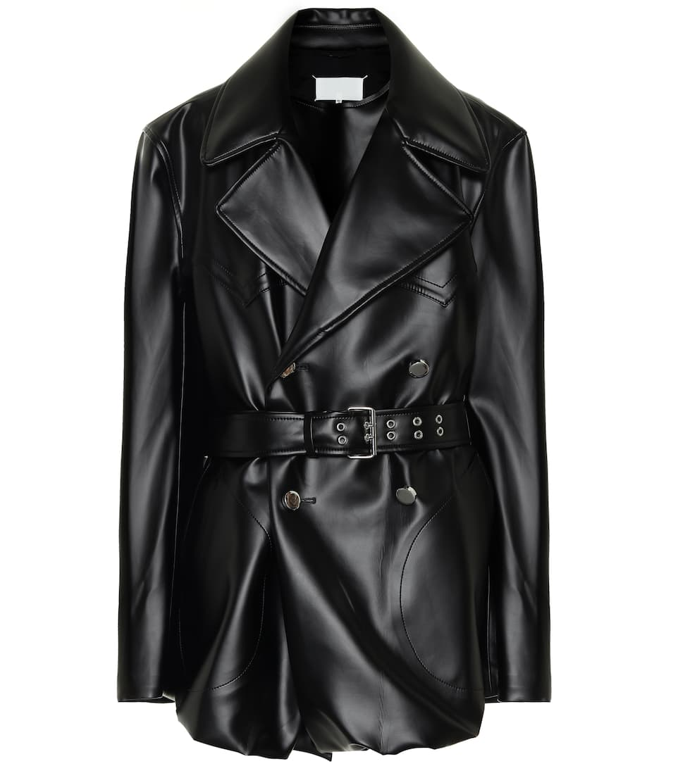 Shop black A COLD WALL* zipped PVC coat with Express