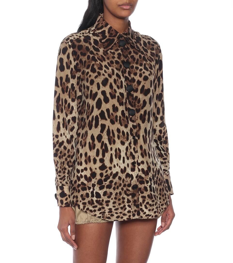 Leopard-Print Silk Blouse - Dolce & Gabbana