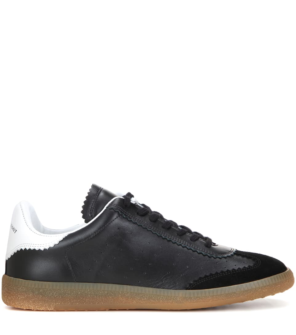 2 stores in stock isabel marant toile bryce leather sneakers llack modesens. Black Bedroom Furniture Sets. Home Design Ideas