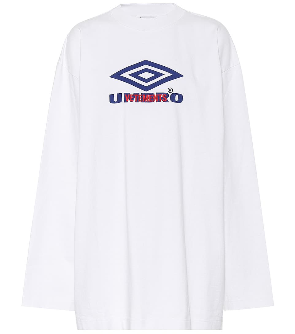 X Umbro long-sleeved cotton T-shirt