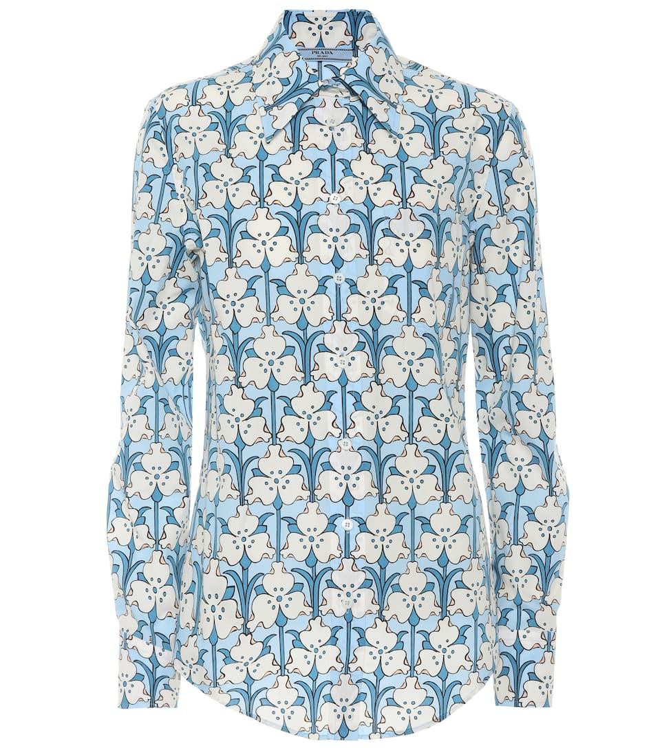 Prada Bedrucktes Hemd aus Baumwolle