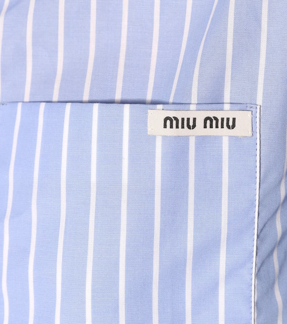 Miu Miu Decorated Blouse Made Of Cotton