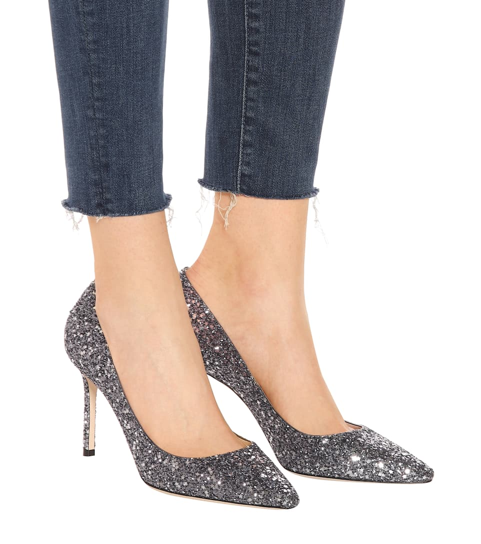 Jimmy Choo Pumps Romy 85 mit Glitter