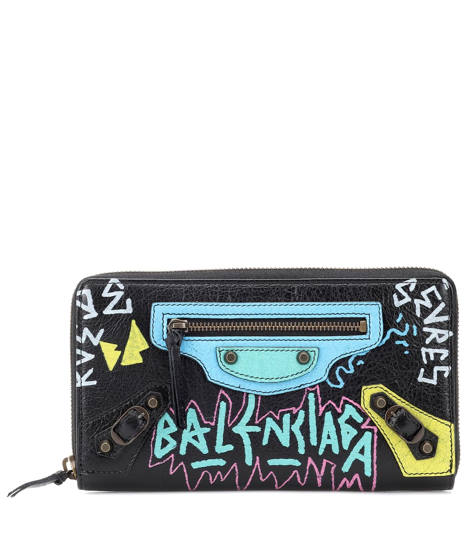 Classic Graffiti Continental Zip-Around Wallet, Female