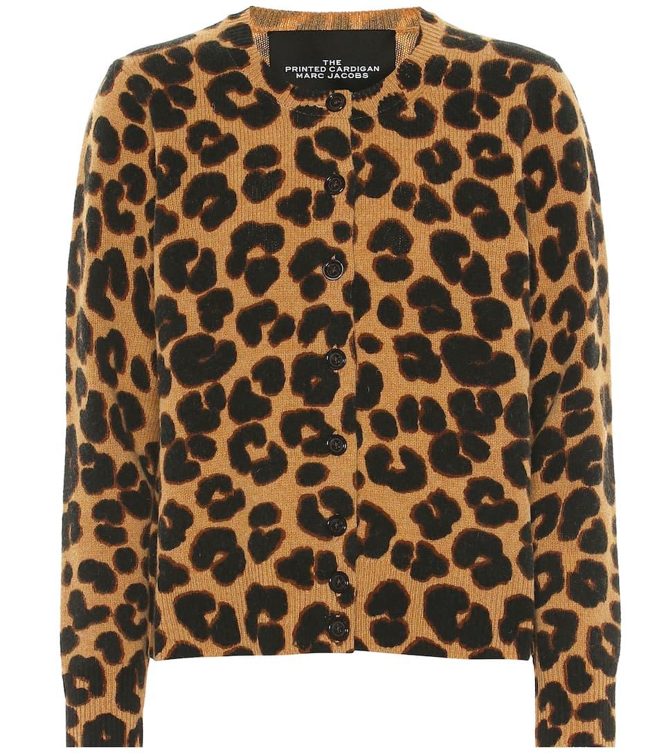 b0885a7a06bd Marc Jacobs - Leopard-printed wool cardigan | Mytheresa