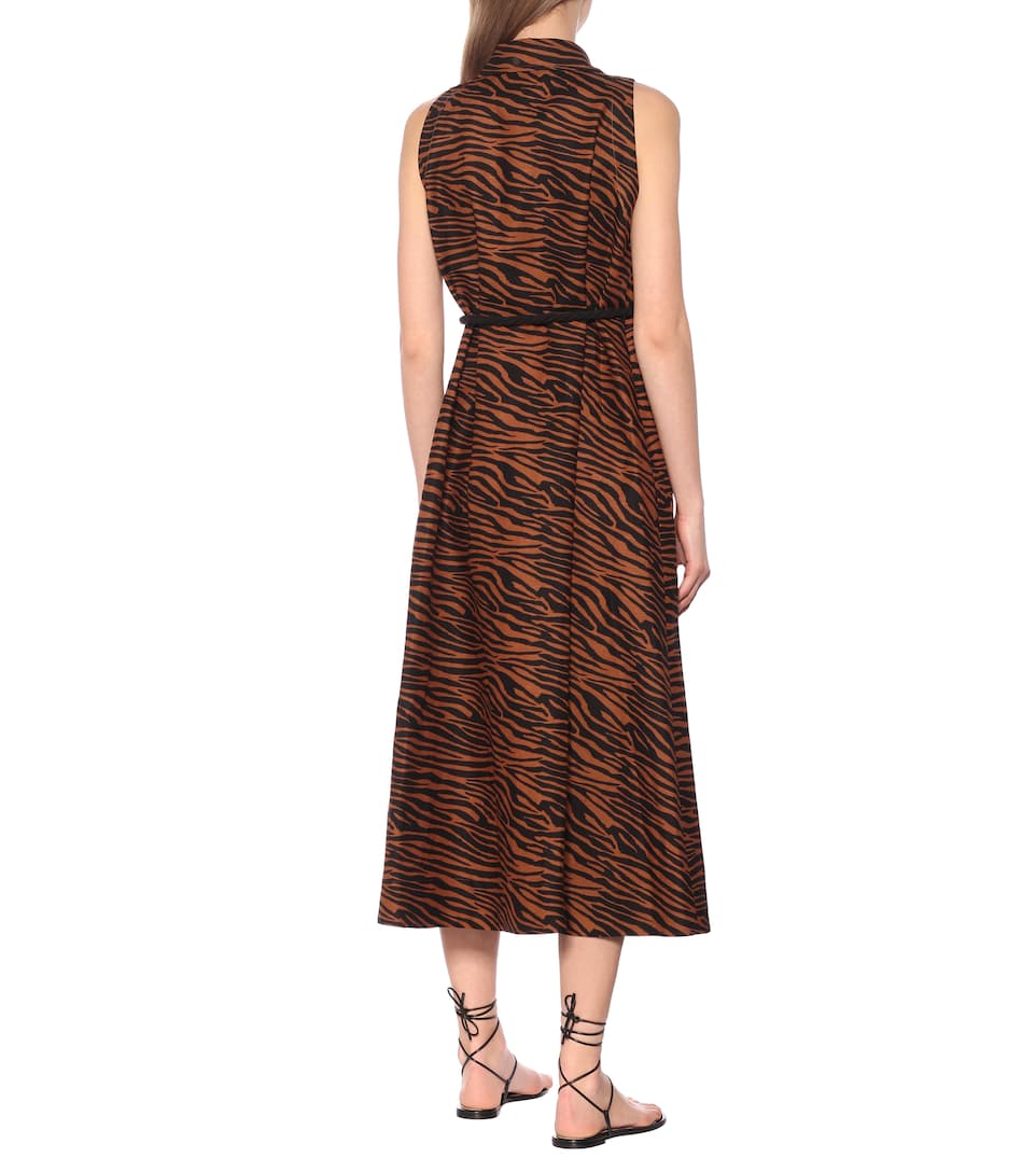 Alison Zebra-Printed Midi Dress   Lisa Marie Fernandez - Mytheresa