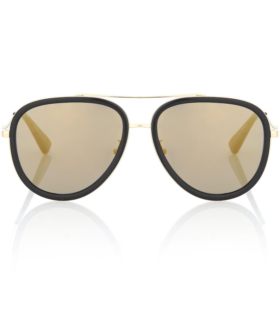 a9d0653de88681 Gucci - Lunettes de soleil aviateur   mytheresa.com