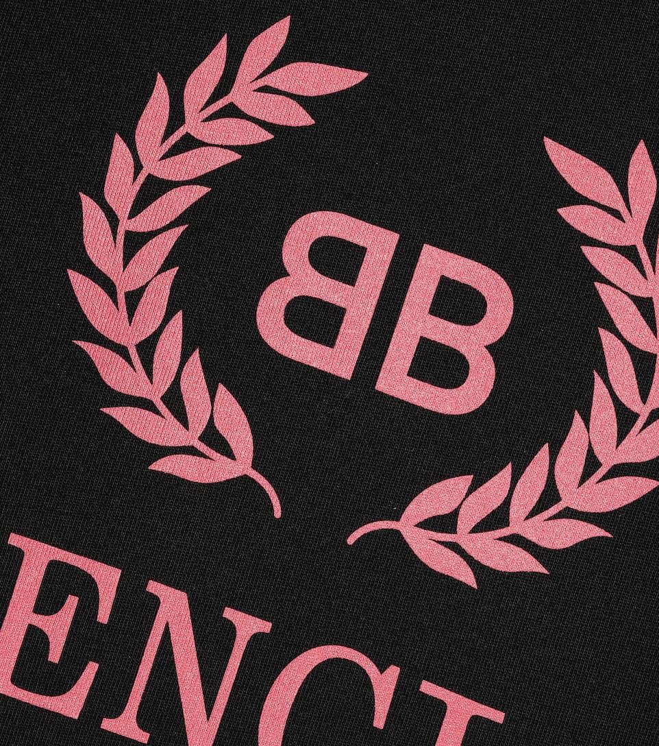 Balenciaga T-Shirt mit Print aus Baumwolle