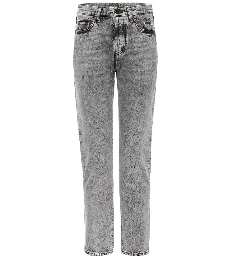 Saint Laurent Jeans With Embroidery Made Of Cotton