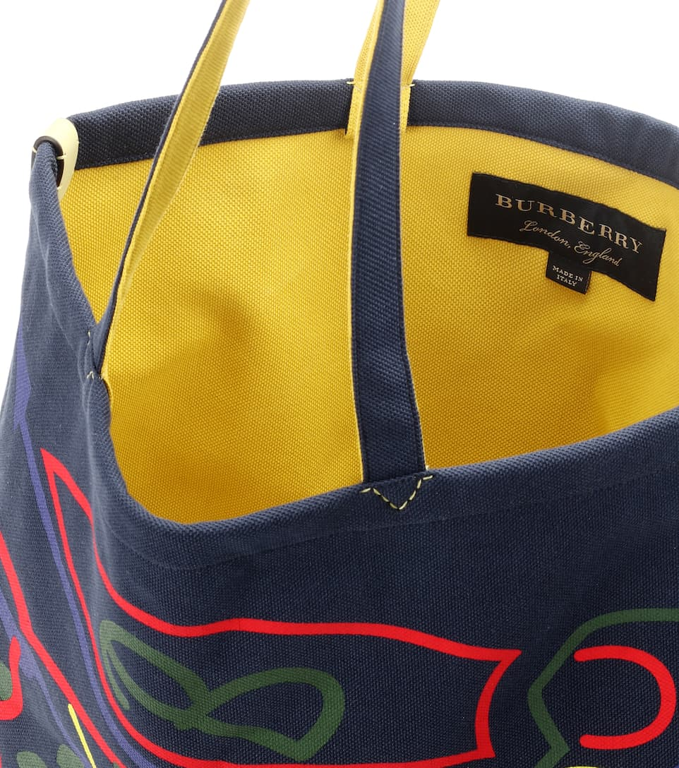 Burberry Large Archive Logo jersey shopper Navy Websites For Sale Havf650E6