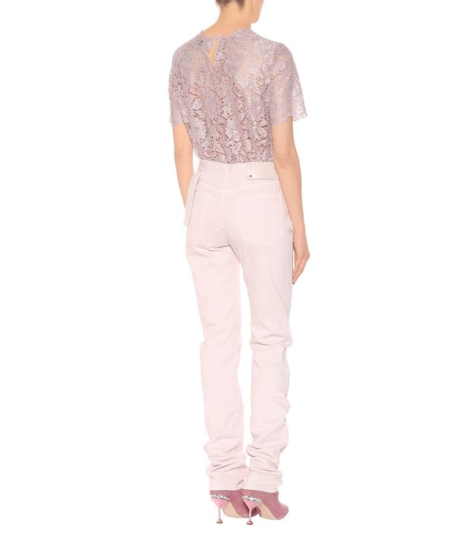 jeans de rectos talle Poudre alto Valentino qgdESfW7O