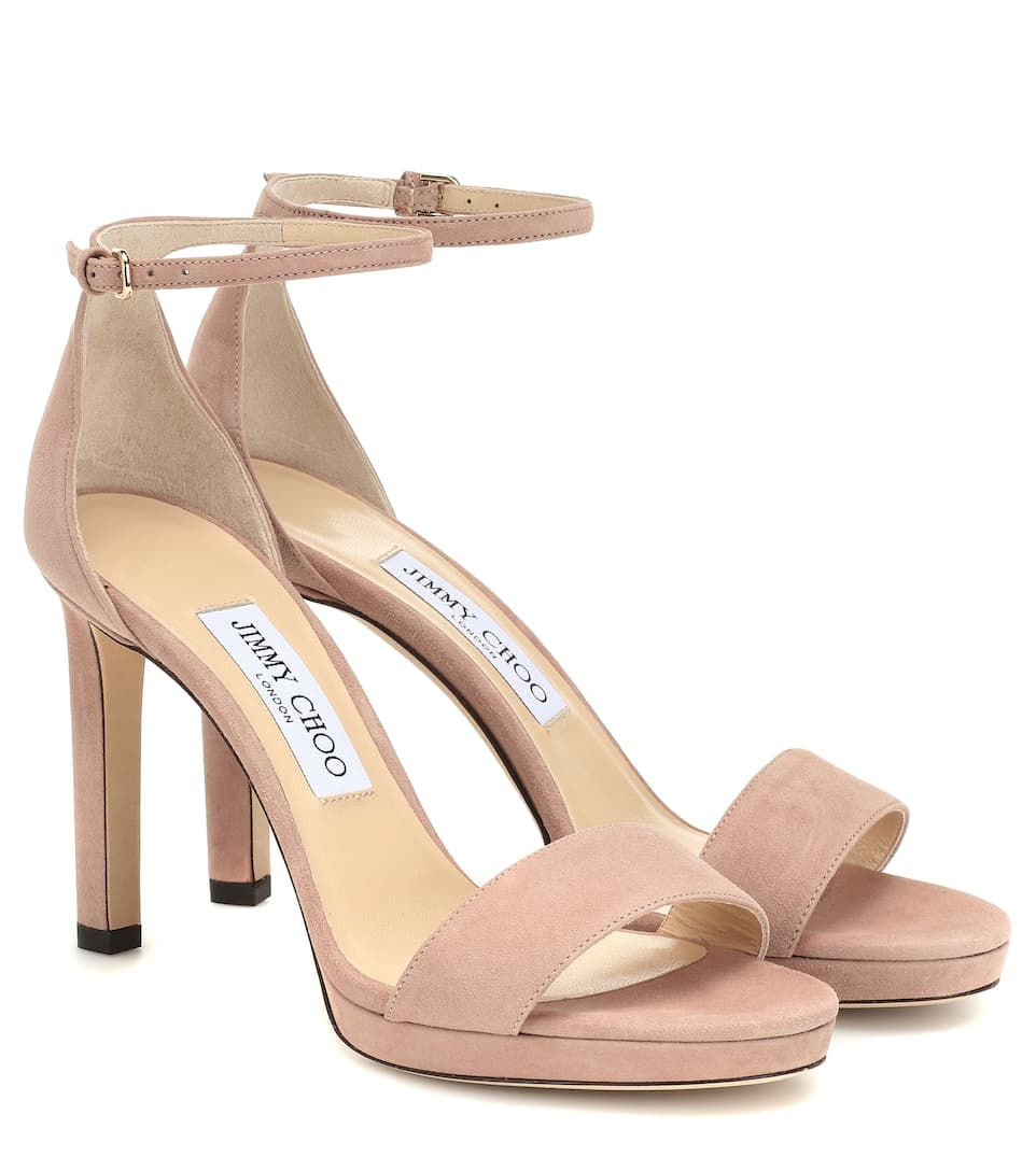 11ca9d51d009 Misty 100 Suede Sandals - Jimmy Choo