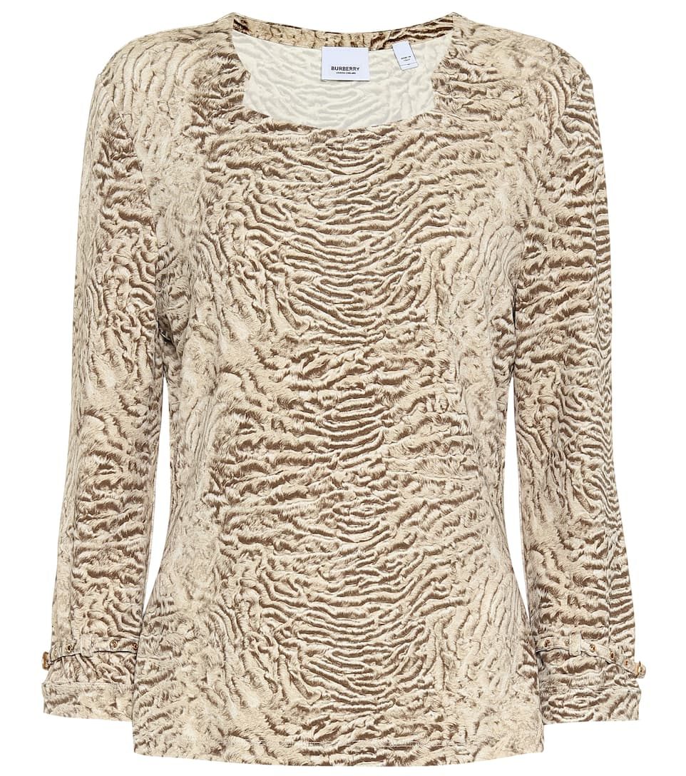 Top Burberry Stampa Top Stretch A Burberry W9HED2I