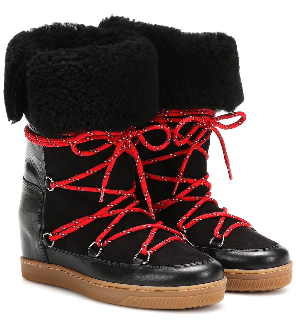 shoes for cheap hot product purchase authentic Nowly shearling ankle boots
