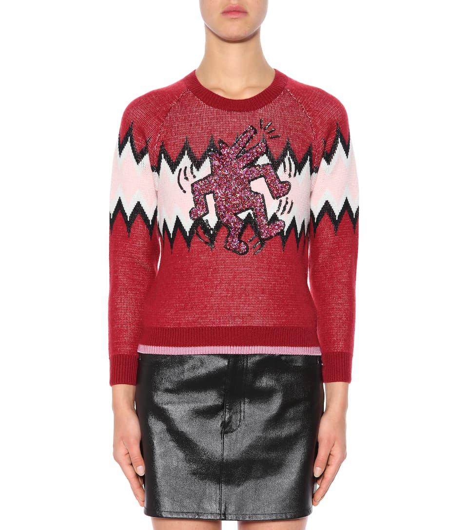 Coach Decorated Sweater Wool And Cashmere