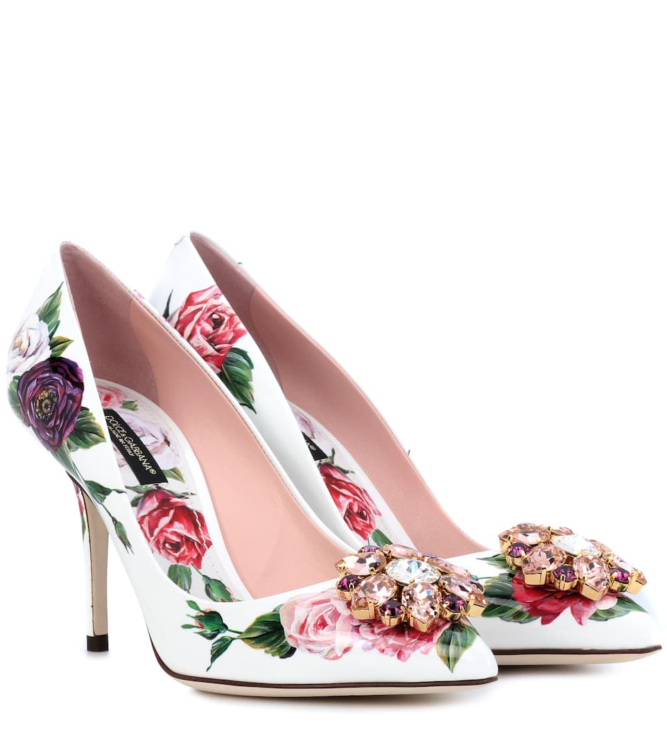 Dolce   Gabbana - Floral-printed patent leather pumps  db18bc73a8842