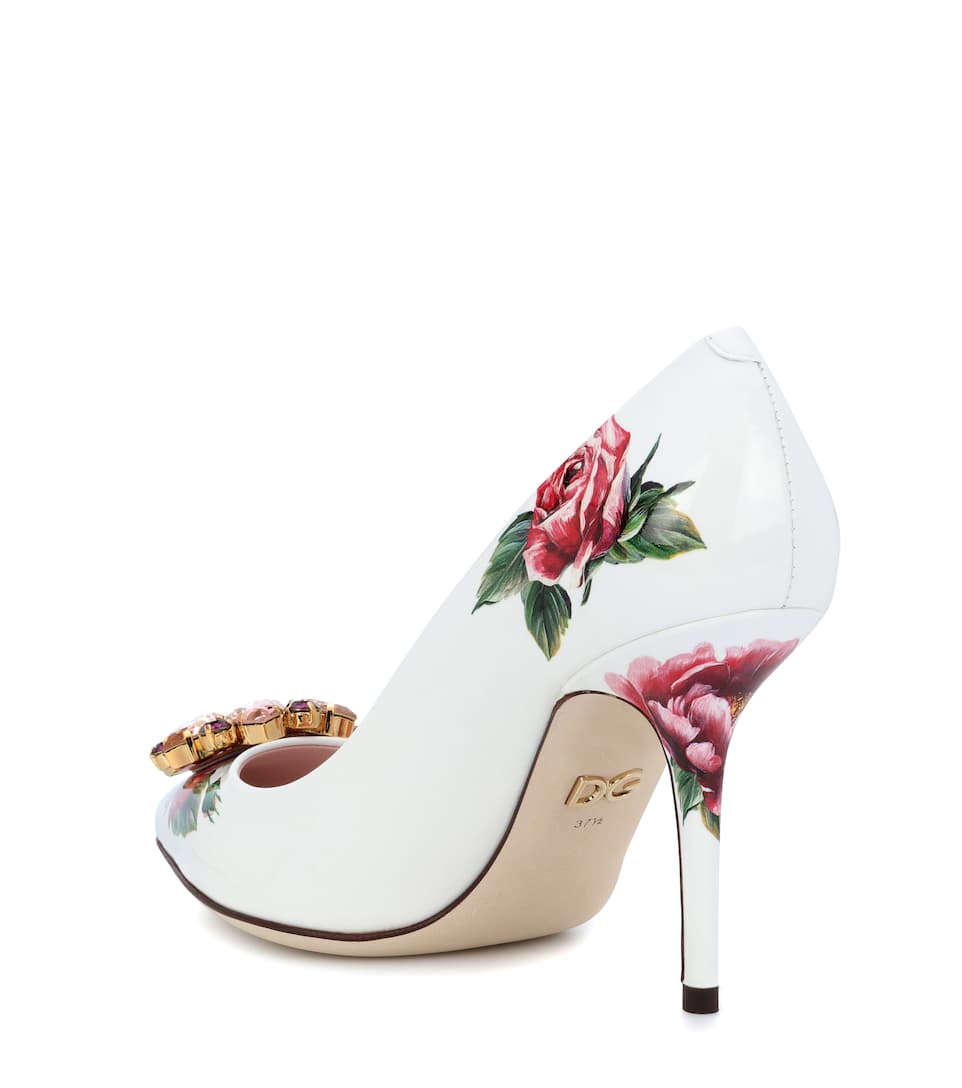 Dolce & Gabbana - Escarpins en cuir verni à cristaux Bellucci Magasin De Dédouanement À Vendre Pas Cher À La Recherche De 6cWxhBBOD