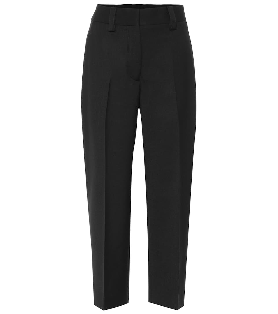 Cropped Wool Blend Pants by Acne Studios