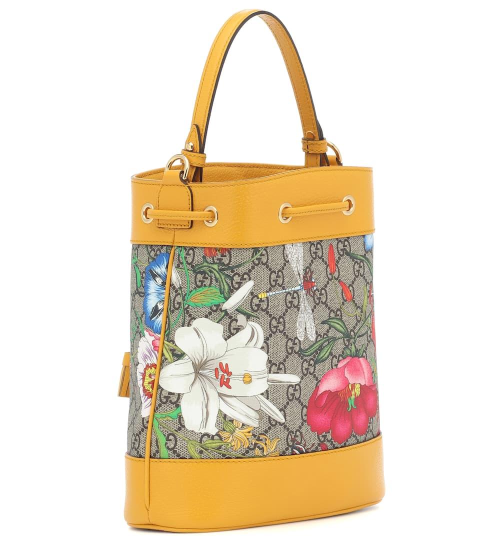 Ophidia Gg Flora Small Bucket Bag Gucci Mytheresa