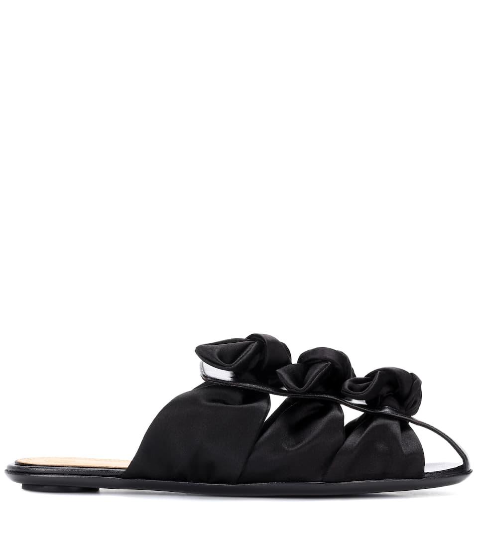 The Row Slippers Capri Bow aus Satin
