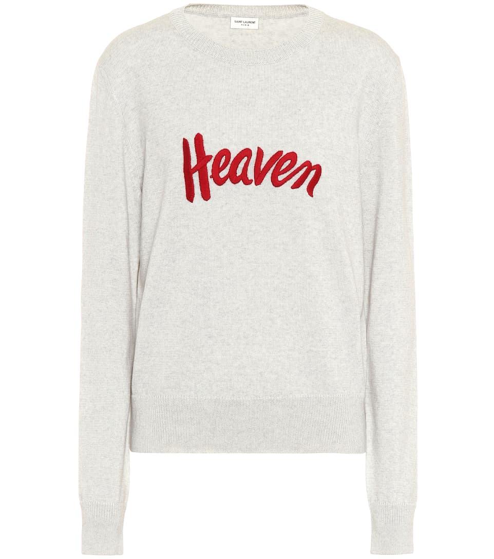 Saint Laurent Bestickter Pullover aus Wolle