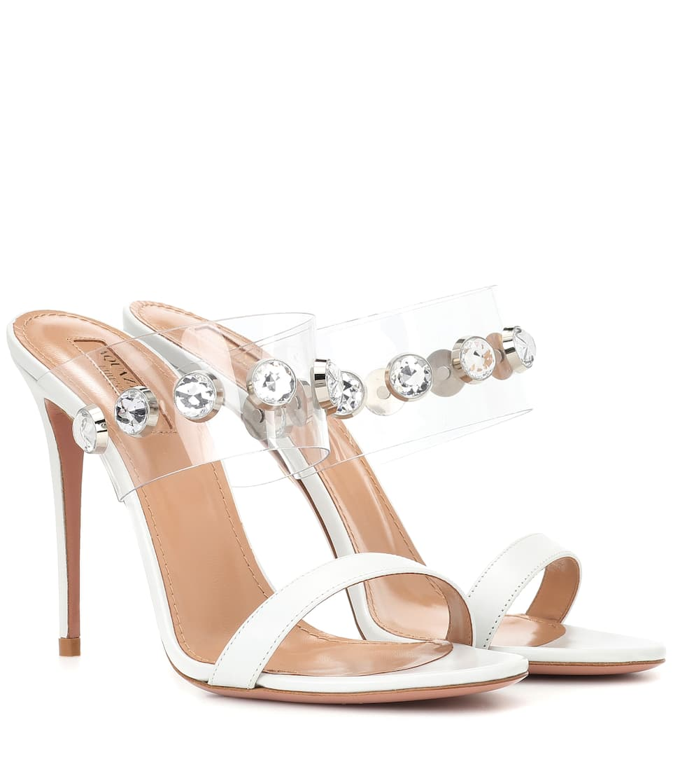 Buy Cheap Professional New Release Galaxy 105 crystal-embellished sandals Aquazzura Visit Cheap Price e3z47