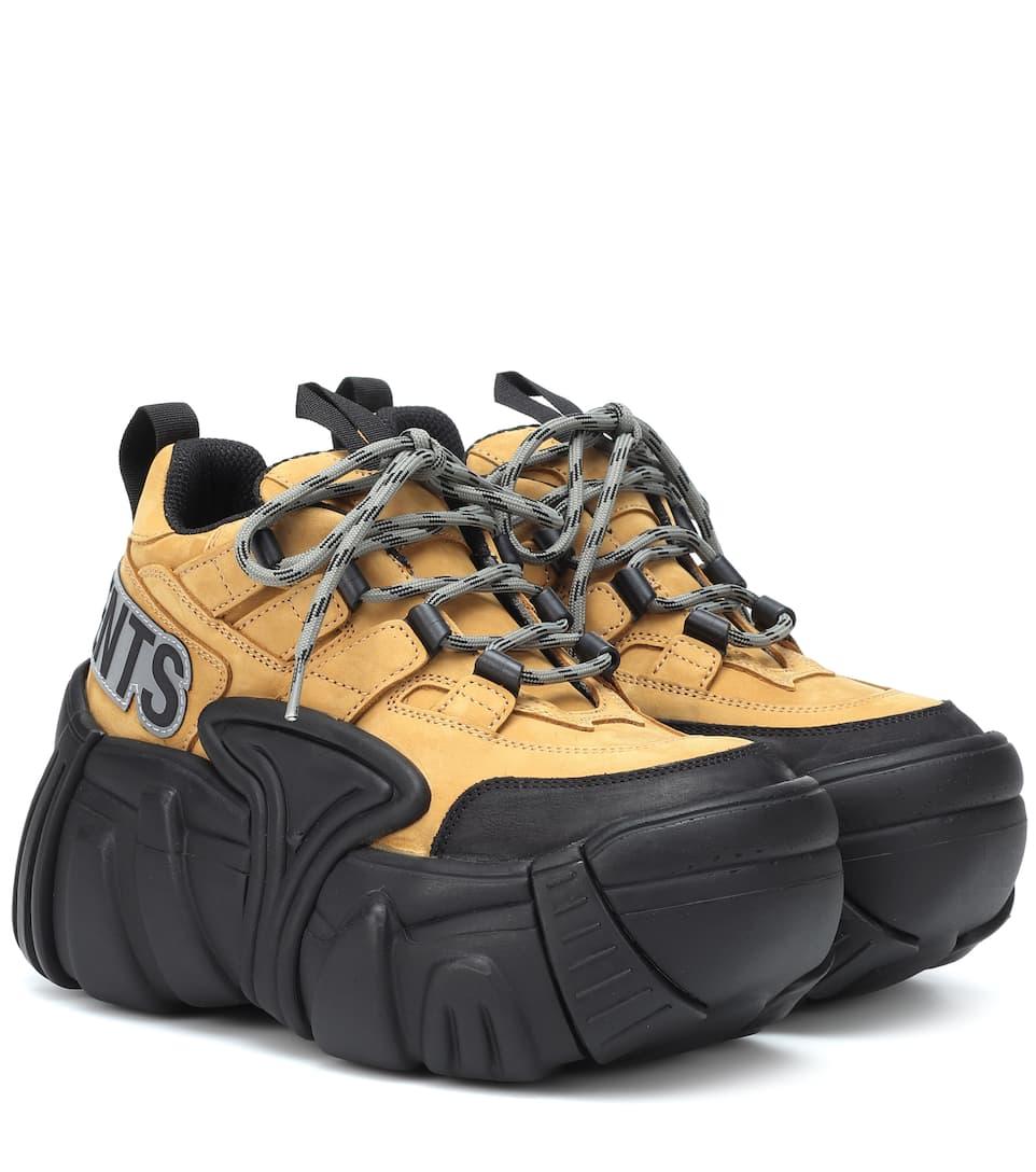 d48905f1e4722f X Swear Nubuck Platform Sneakers | Vetements - mytheresa