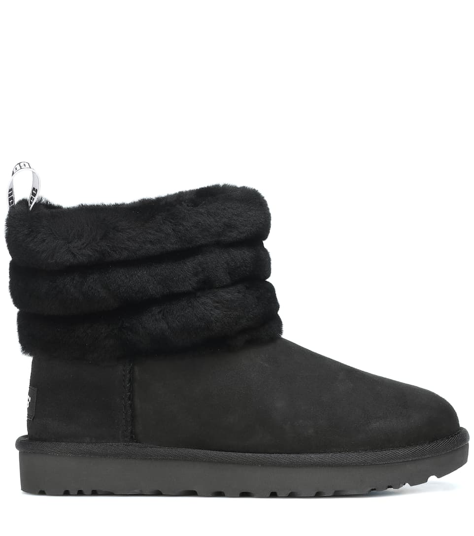 Fluff Mini Quilted suede ankle boots