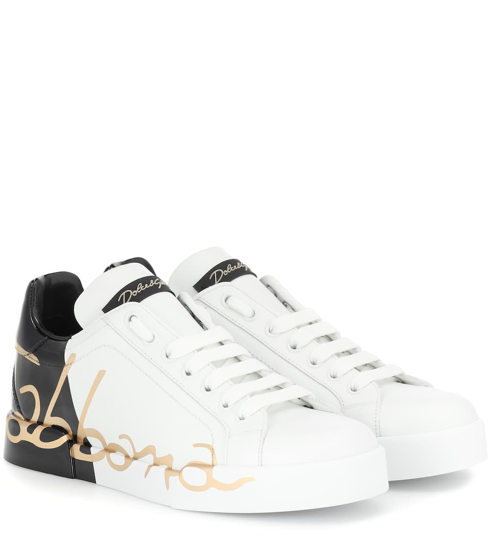 Dolce & Gabbana Sneakers in pelle con stampa