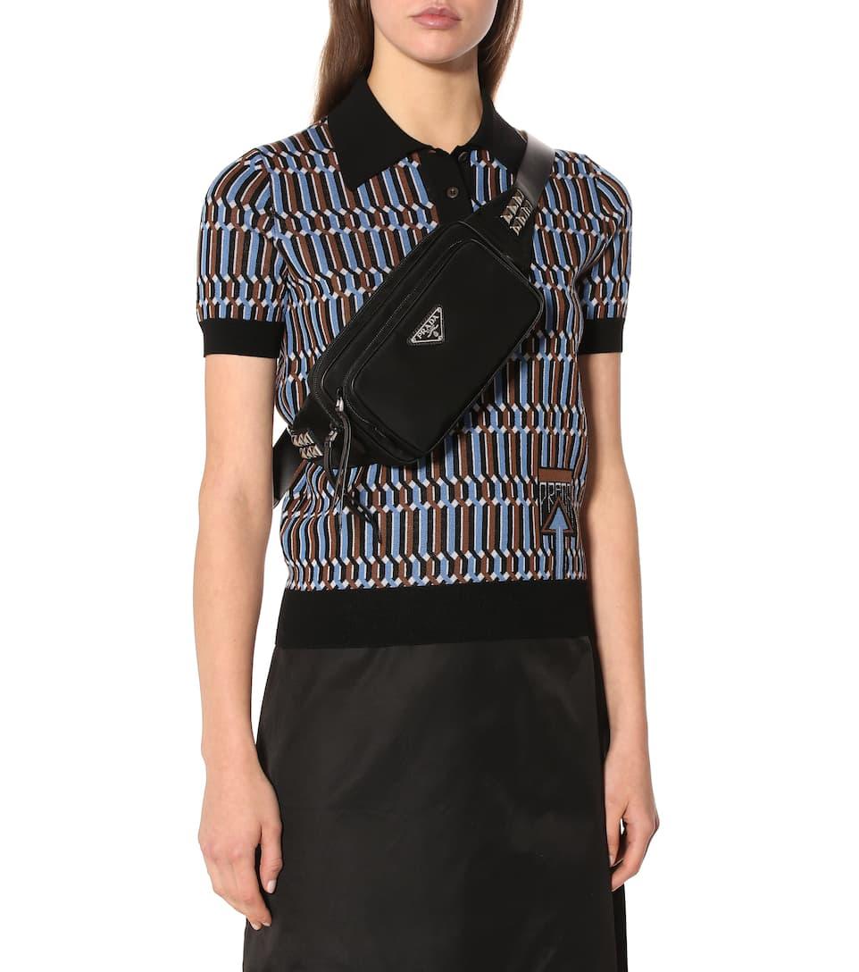 bb2a5701eadf Leather-Trimmed Belt Bag - Prada | mytheresa