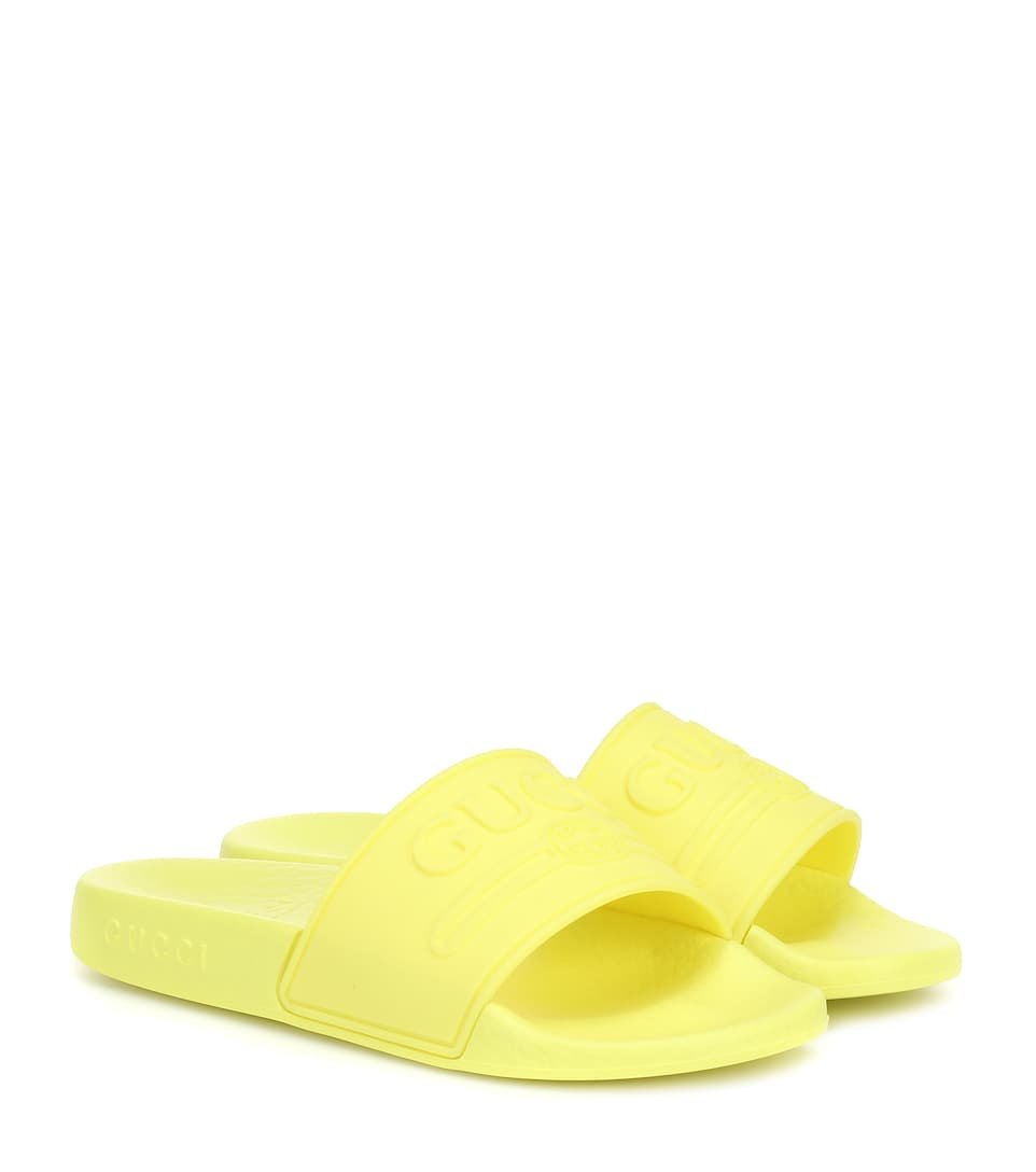822cd906353 Logo Rubber Slides - Gucci Kids