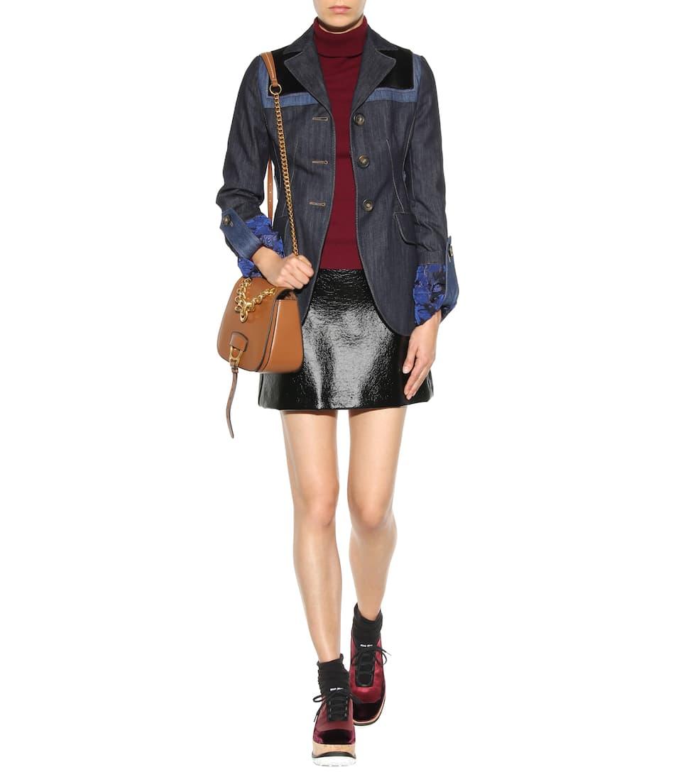 Miu Miu Satin and velvet platform sneakers a6DJPnBEqc