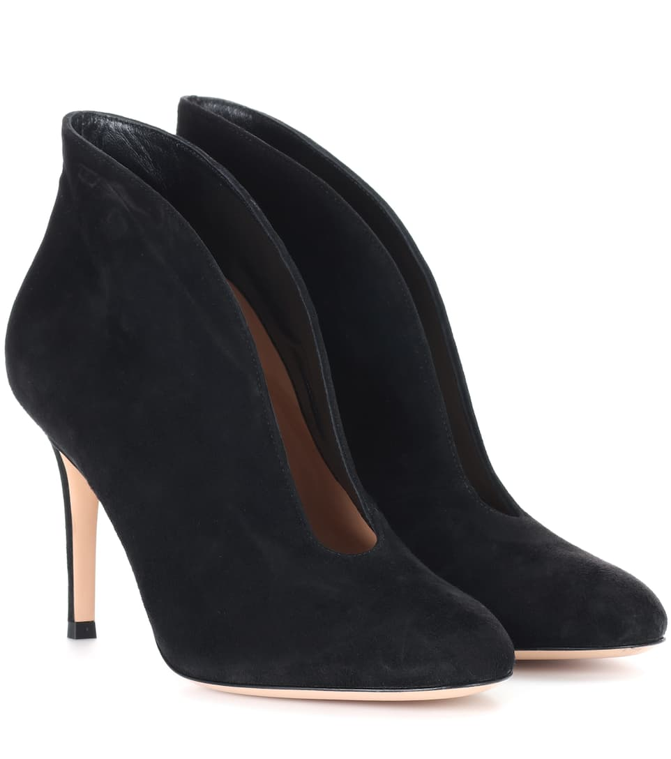 Gianvito Rossi - Bottines en daim Vamp 85