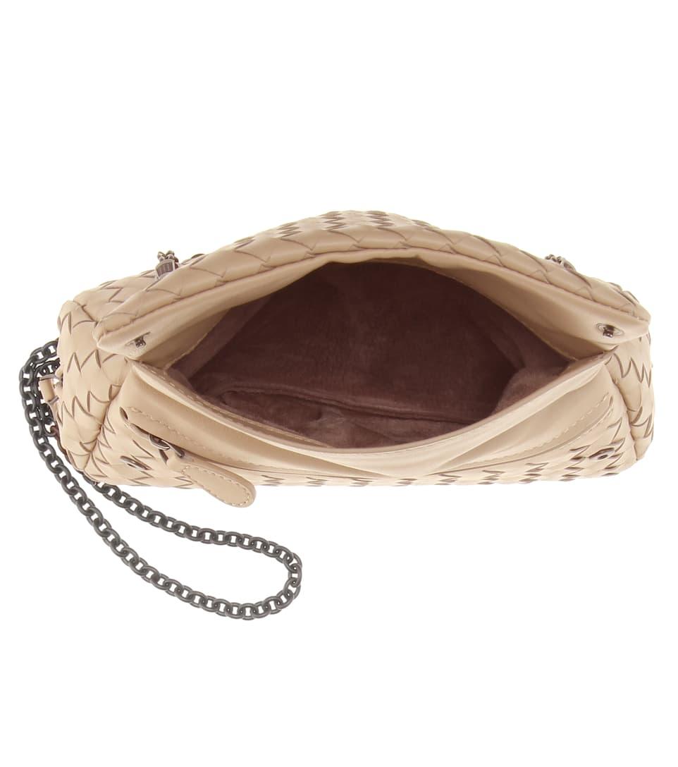 Bottega Veneta Intrecciato-Schultertasche aus Leder