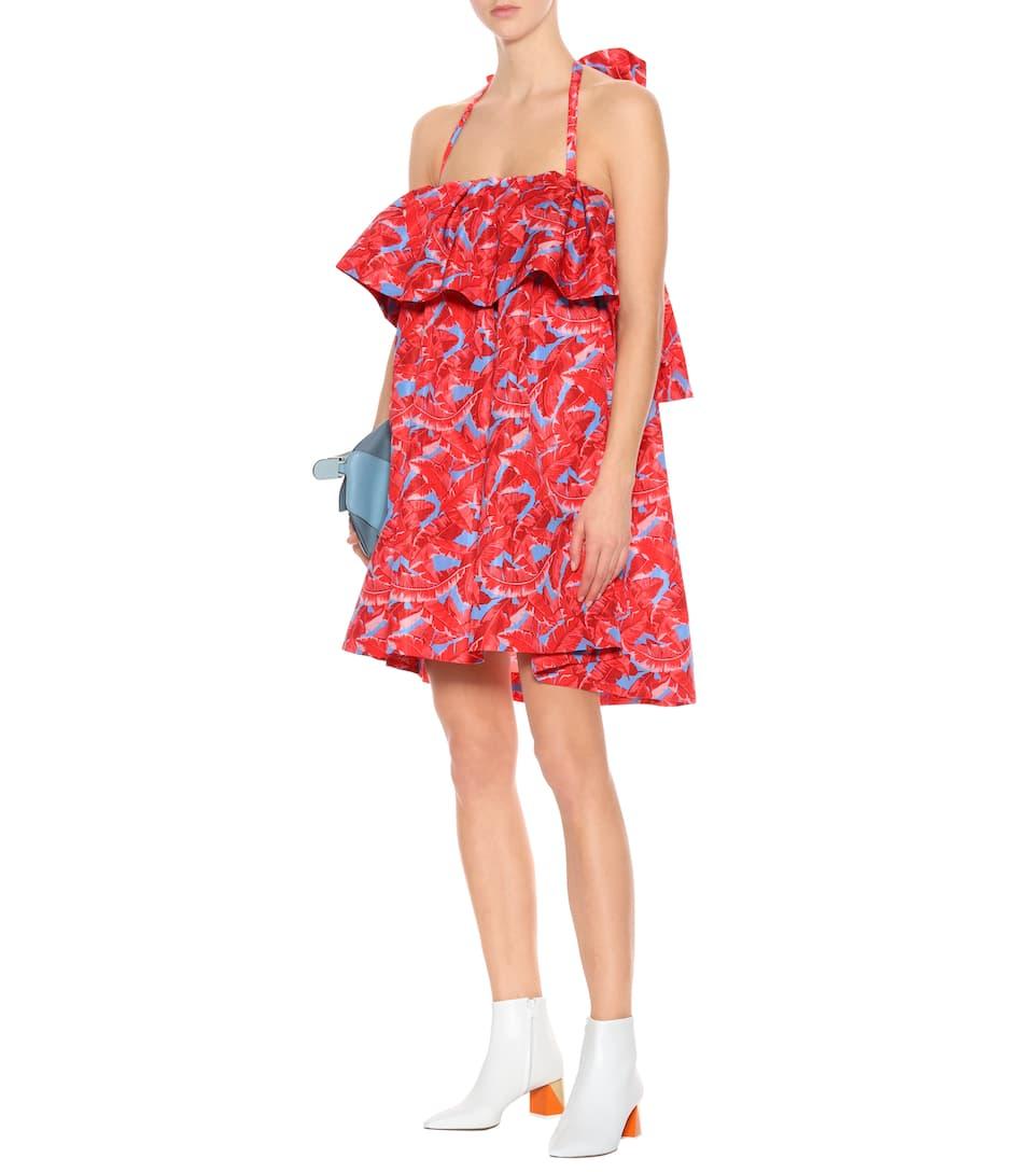 MSGM Bedrucktes Kleid mit Volants