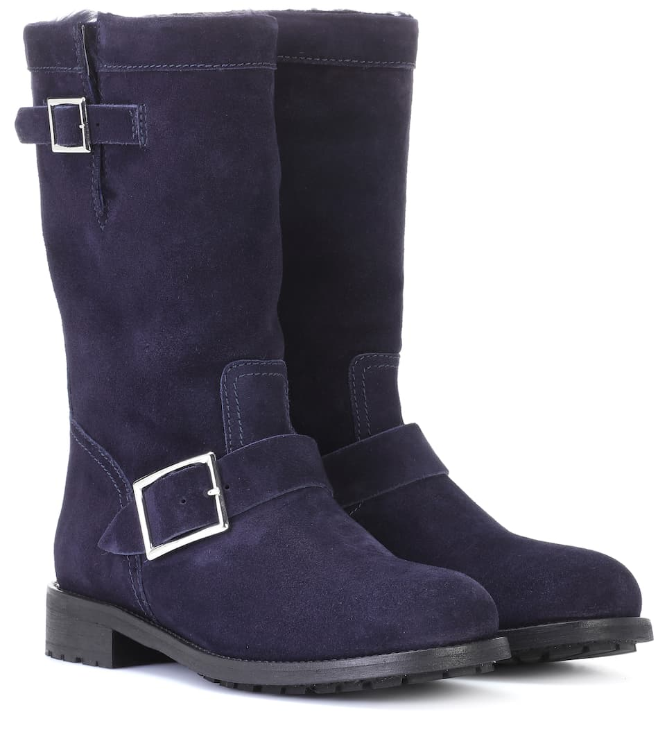BIKER SUEDE ANKLE BOOTS