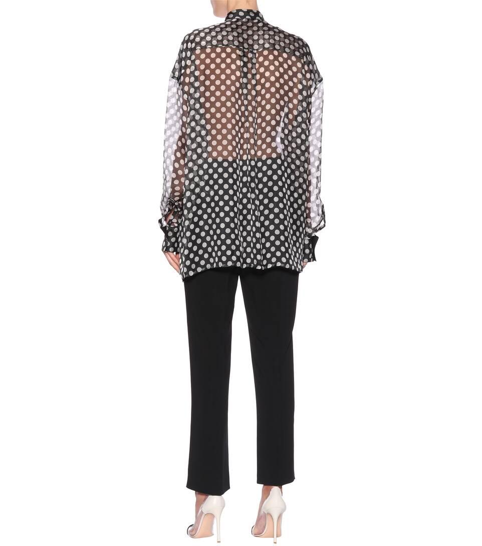 Haider Ackermann Semi-transparente Bluse aus Seide