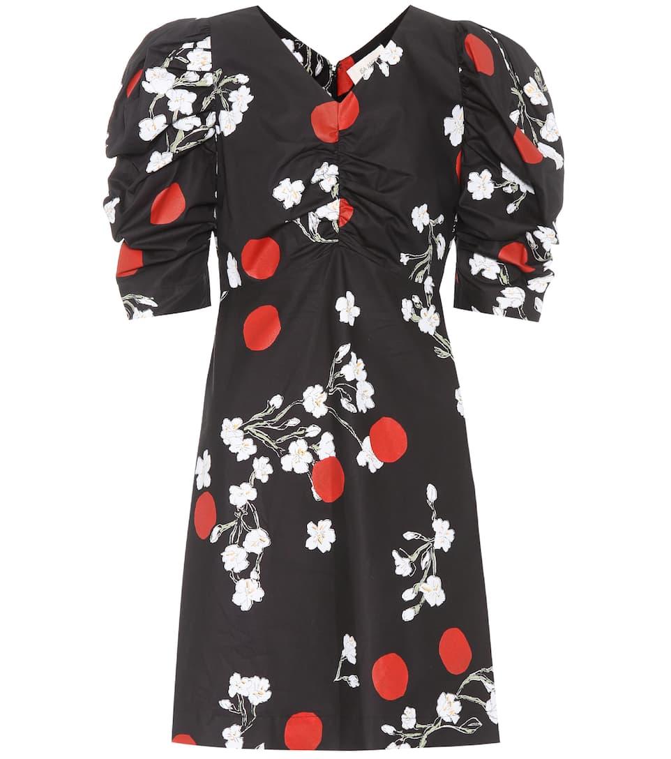 Floral-printed cotton minidress Isa Arfen XbCXAns